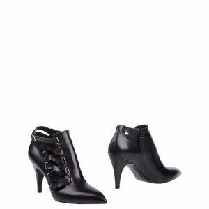 Casadei Black Leather Ankle Booties 7.5 US/38 EU